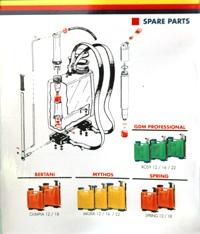 SPRING12-SPRING18 háti permetező pótalkatrész készlet